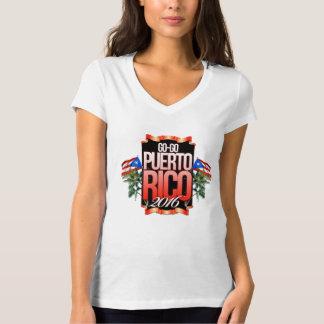 La mujer Va-GoPuertoRico camisa con cuello de pico