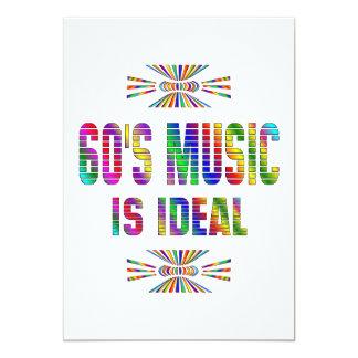 la música 60s es ideal invitación 12,7 x 17,8 cm
