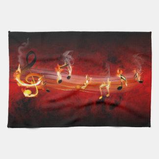 La música caliente observa la toalla de cocina