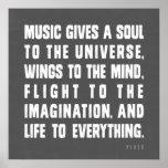 La música da un alma al universo poster