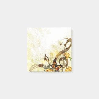 La música de la mariposa observa notas del