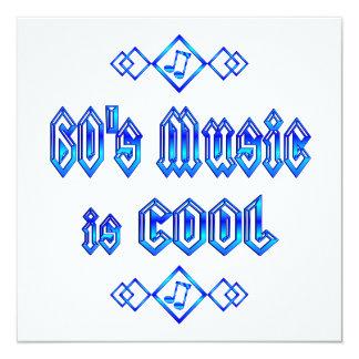 la música de los años 60 es fresca invitación 13,3 cm x 13,3cm