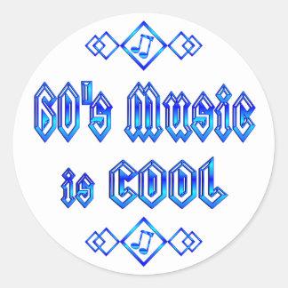 la música de los años 60 es fresca etiqueta redonda