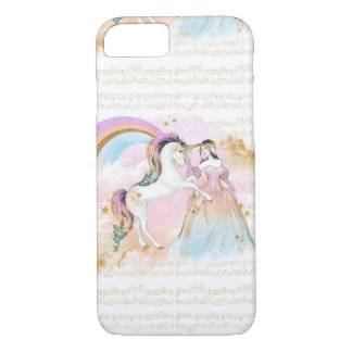 La música de princesa Rainbow del unicornio Funda iPhone 7