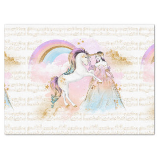 La música de princesa Rainbow del unicornio Papel De Seda