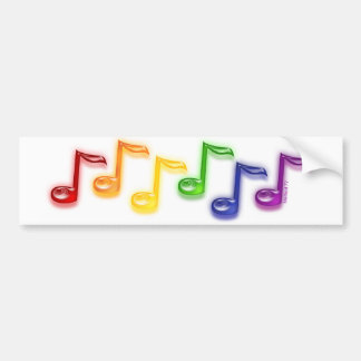 La música del arco iris observa a la pegatina para pegatina para coche