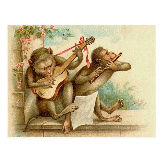 La música del vintage Monkeys la postal