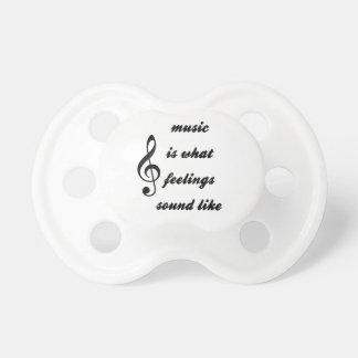 La música es como lo que suenan las sensaciones chupete