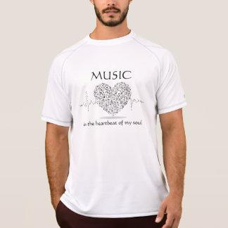 La música es el latido del corazón a la camiseta