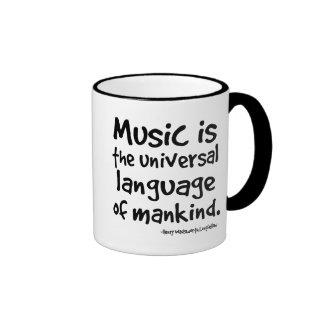 La música es la lengua universal del regalo de la  taza de café