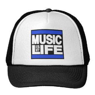 La música es mi azul de la vida gorros bordados
