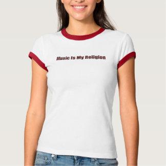 La música es mi camiseta de la religión