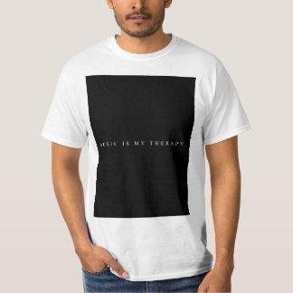 La música es mi camiseta de la terapia (blanca)
