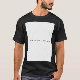 La música es mi camiseta de la terapia (el negro)