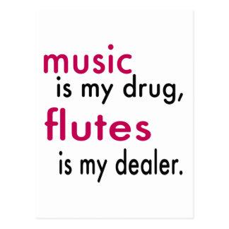 La música es mi droga, flautas es mi distribuidor postal