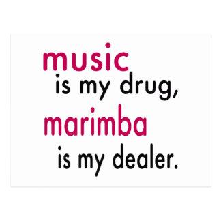La música es mi droga, Marimba es mi distribuidor Postal