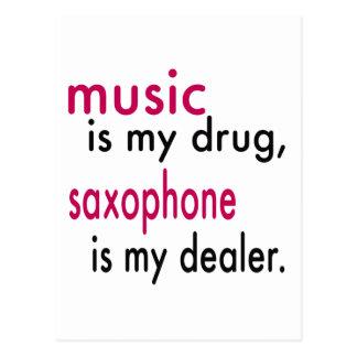La música es mi droga, saxofón es mi distribuidor postal