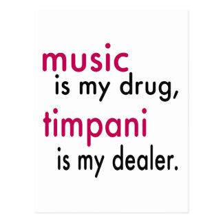 La música es mi droga, Timpani es mi distribuidor Postal