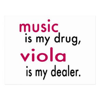 La música es mi droga, viola es mi distribuidor postal