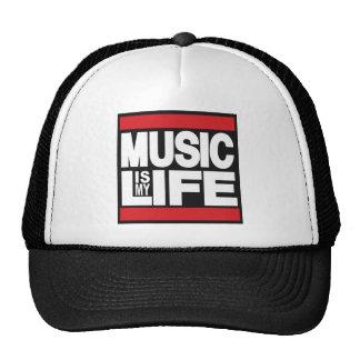 La música es mi rojo de la vida gorro de camionero