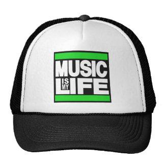 La música es mi verde de la vida gorros bordados