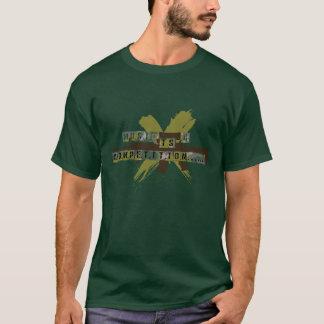 """La """"música es una competencia """" camiseta"""