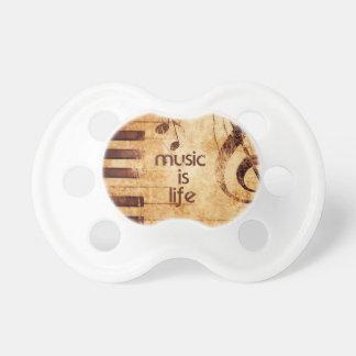 La música es vida chupetes de bebe