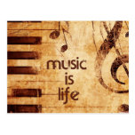 La música es vida tarjeta postal