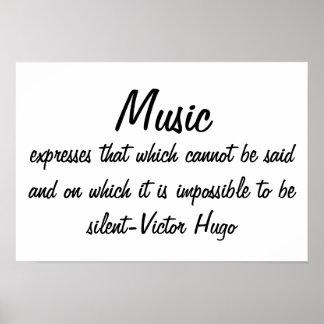 La música expresa… póster