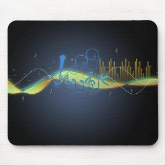 La música fresca de los efectos que brilla intensa alfombrilla de ratón