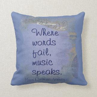 La música habla--  Dígala con las almohadas