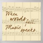 La música habla posters