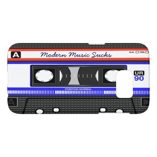 La música moderna chupa el casete compacto retro funda samsung galaxy s7