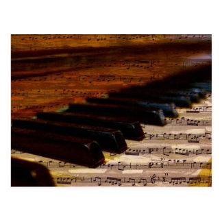 La música observa el destino animal del pájaro de tarjeta postal