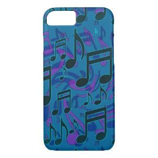 La música observa púrpura musical del verde azul funda iPhone 7