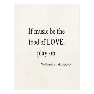 La música sea la comida de las citas de la cita de postal
