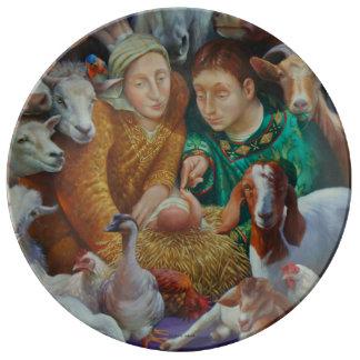 La natividad de Rosa María Adcock Plato De Porcelana