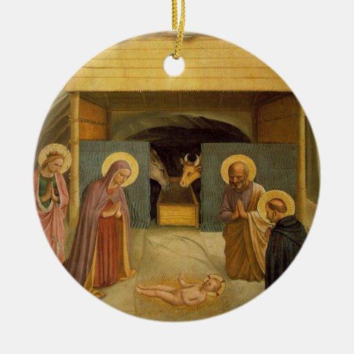 La natividad por bella arte religiosa del Fra Ange Adorno
