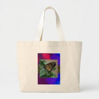 La naturaleza LINDA del insecto de la mariposa Bolsa Tela Grande