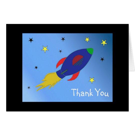 La nave de Rocket le agradece Tarjeta Pequeña
