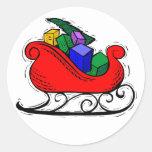 La Navidad de Etiquetas engomadas del diseño de Pegatina Redonda