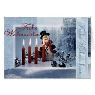 La navidad tarjeta de felicitación