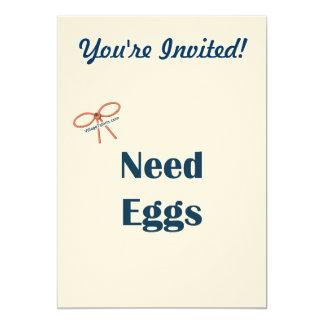 La necesidad Eggs recordatorios Invitacion Personalizada