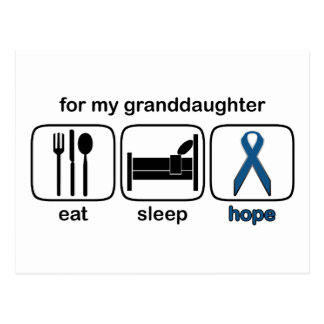 La nieta come la esperanza del sueño - cáncer de postal