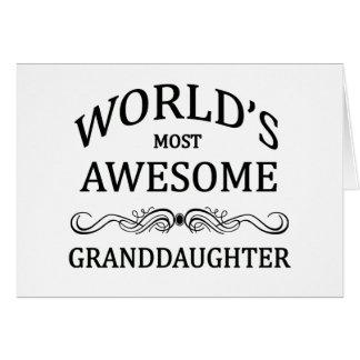 La nieta más impresionante del mundo tarjetas