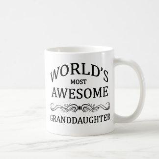 La nieta más impresionante del mundo taza de café