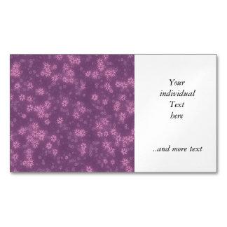 La nieve protagoniza la lila tarjetas de visita magnéticas (paquete de 25)