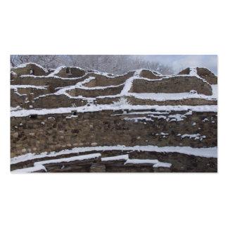 la nieve remató ruinas aztecas en New México Plantillas De Tarjetas Personales