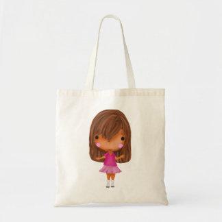 La niña lista para ir a hacer compras