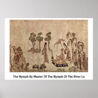 La ninfa por el amo de la ninfa del río Lo Poster